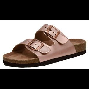 Shoes - Cushioned Women's Lane Slide Sandals.  Size 7. NEW